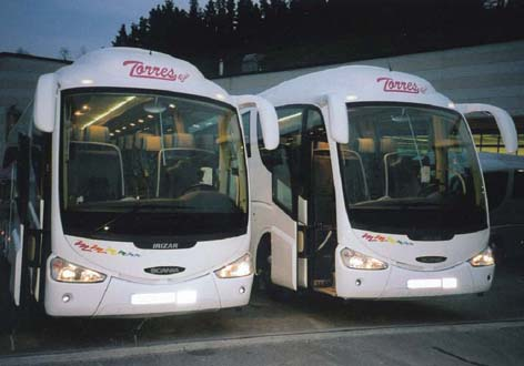 Buses to rent in Madrid and Toledo